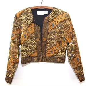 Passport by Pier one Imports crop tapestry jacket